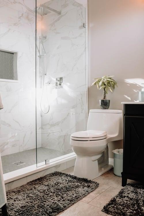 Gray bathroom walls