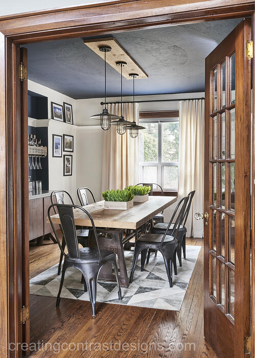 navy blue ceiling
