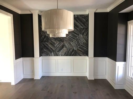 Greige painted ceiling