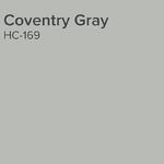 Benjamin Moore Coventry Gray paint swatch
