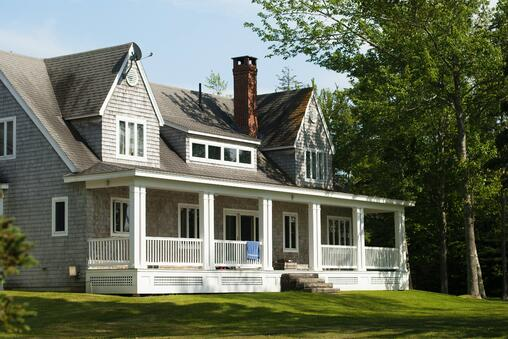 Classic house with gray paint