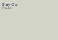 Benjamin Moore Gray Owl paint swatch