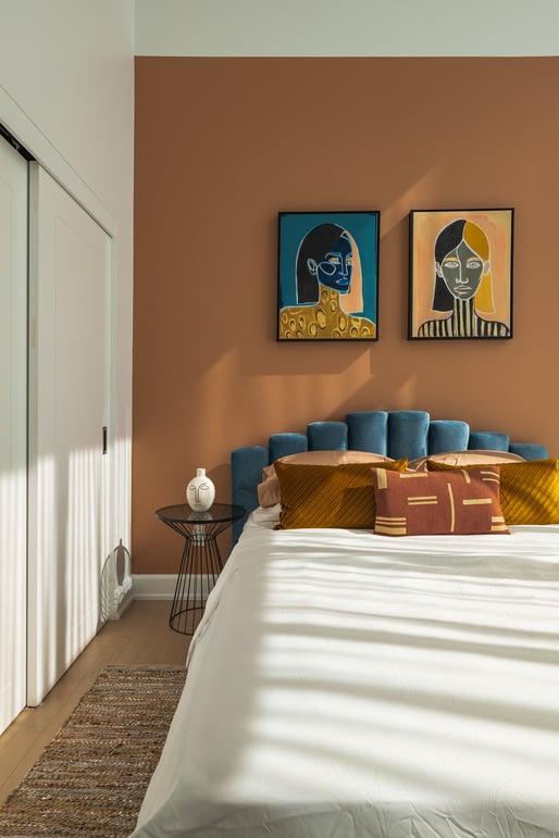Terracotta bedroom walls
